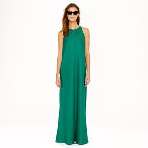 J.Crew Linen Green Maxidress